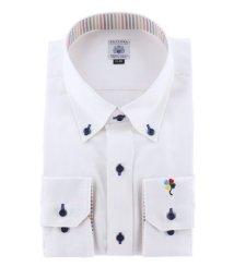 GRAND-BACK/【大きいサイズ】ファットゥーラ/FATTURA 綿100%日本製ボタンダウン長袖ビジネスドレスシャツ/ワイシャツ/503138605