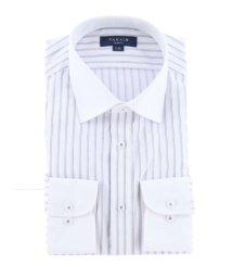 TAKA-Q/形態安定抗菌防臭スリムフィット ワイドカラー長袖ビジネスドレスシャツ/ワイシャツ/503138620