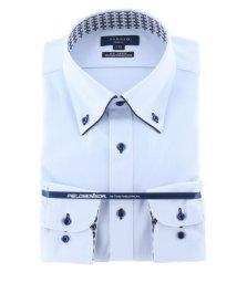 TAKA-Q/フィールドセンサー/FIELDSENSOR スリムフィットボタンダウン長袖ニットビジネスドレスシャツ/ワイシャツ/503138644