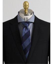 GRAND-BACK/【大きいサイズ】アレキサンダージュリアン/ALEXANDER JULIAN 日本製ふじやま織り シルクストライプ柄レギュラーネクタイ8.5cm幅/503138710