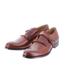 around the shoes /MADE IN ITALY クロスダブルモンクビジネス ドレスシューズ/503138875