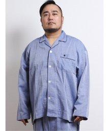 GRAND-BACK/【大きいサイズ】ポロ/POLO 綿先染二重ガーゼパジャマ 無地/503138903
