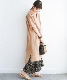 haco!/キーネックがさり気なく女っぽい 重ね着にも便利なビッグTシャツワンピース/503195176