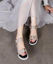 Shoes in Closet/ゴールドパーツ ベルクロ★クッションソール スポーツサンダル★《約5.0cmソール》7585/503196387