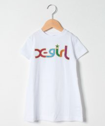 X-girl Stages/レインボーロゴフレアTシャツワンピース/503198543