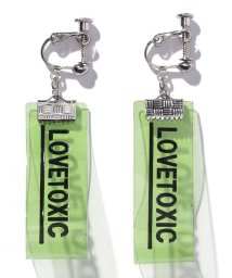 Lovetoxic/ロゴ入りクリアテープイヤリング/503198569