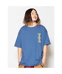 CAYHANE/【チャイハネ】yul ジオメ刺繍ビッグシルエットメンズTシャツ ブルー/503214671