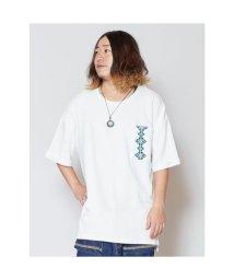 CAYHANE/【チャイハネ】yul ジオメ刺繍ビッグシルエットメンズTシャツ ホワイト/503214673