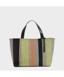 CHARLES & KEITH/ラージケージド キャンバストートバッグ / Large Caged Canvas Tote Bag (Multi)/503215466