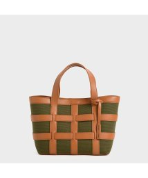 CHARLES & KEITH/ケージド キャンバストートバッグ / Caged Canvas Tote Bag (Olive)/503215470