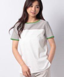 Leilian/配色ボーダーカットソー/503216227