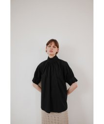 CLANE/STAND UP COLLAR GATHER TOPS/503216471