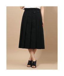 dinos/ディノス dinos ベルトデザイン タック使い スカート (ブラック)/503218499
