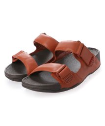 FITFLOP/フィットフロップ fitflop GOGH MOC SLIDE IN LEATHER (Dark Tan)/503219988
