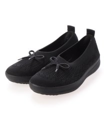 FITFLOP/フィットフロップ fitflop UBERKNIT SLIP-ON BALLERINA WITH BOW (All Black)/503244734