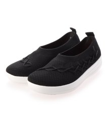 FITFLOP/フィットフロップ fitflop CORSETTED KNIT BALLERINAS (Black)/503244740
