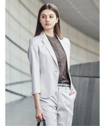 m.f.editorial/ボンフォルト/BONNEFORTE セットアップ1釦8分袖テーラージャケット ライトグレー/503245278