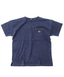 GLAZOS/カットデニム・ドロップショルダーポケット半袖Tシャツ/503245722