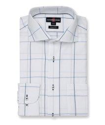 TAKA-Q/形態安定スリムフィット カラミ織カッタウェイ長袖ビジネスドレスシャツ/ワイシャツ/503246343