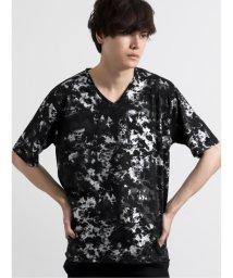 semanticdesign/総柄箔プリントVネック半袖Tシャツ/503246426
