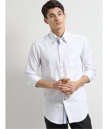 TAKA-Q/アイスカプセル形態安定スリムフィット ボタンダウン7分袖ビジネスドレスシャツ/ワイシャツ/503246439