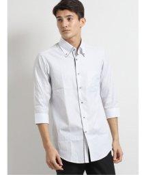 TAKA-Q/アイスカプセル形態安定スリムフィット ボタンダウン7分袖クレリックビジネスドレスシャツ/ワイシャツ/503246440