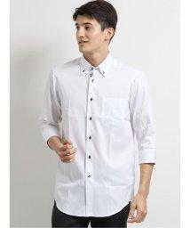 TAKA-Q/アイスカプセル形態安定スリムフィット 3枚衿ボタンダウン7分袖ビジネスドレスシャツ/ワイシャツ/503246441