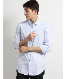 TAKA-Q/アイスカプセル形態安定スリムフィット 3枚衿ボタンダウン7分袖ビジネスドレスシャツ/ワイシャツ/503246442