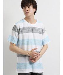 semanticdesign/接触冷感リップルボーダー クルーネック半袖Tシャツ/503246464