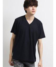 semanticdesign/バイアス リンクスジャガードVネック半袖Tシャツ/503246465