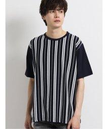 semanticdesign/前身リップルストライプ クルーネック半袖Tシャツ/503246466