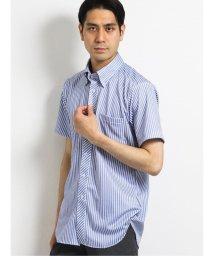 TAKA-Q/Biz クールパス/COOLPASS ボタンダウン半袖ニットシャツ ストライプ/ビズポロ/クールビズ/503246493