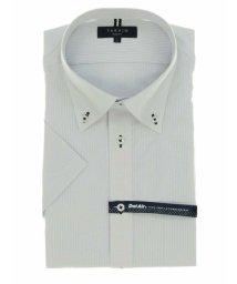 TAKA-Q/形態安定 DotAir スリムフィット ボタンダウン半袖ビジネスドレスシャツ/ワイシャツ/503246504