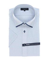 TAKA-Q/形態安定 DotAir スリムフィット ワイドカラー半袖ビジネスドレスシャツ/ワイシャツ/503246505