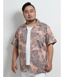 GRAND-BACK/【大きいサイズ】グランバック/GRAND-BACK かりゆし裏使いリーフ総柄半袖シャツ/503246541