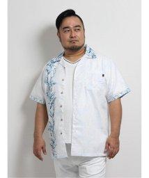 GRAND-BACK/【大きいサイズ】グランバック/GRAND-BACK かりゆし月桃混縦柄パネルプリント半袖シャツ/503246542
