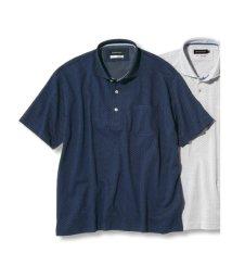 GRAND-BACK/【大きいサイズ】グランバック/GRAND-BACK リネン混ドット柄半袖ポロシャツ/503246569