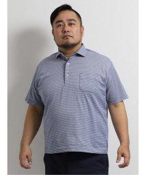 GRAND-BACK/【大きいサイズ】グランバック/GRAND-BACK 和紙混メランジボーダー半袖ポロシャツ/503246570