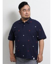 GRAND-BACK/【大きいサイズ】ジーステージ/G-stage 総飛び柄刺繍半袖ポロシャツ/503246574