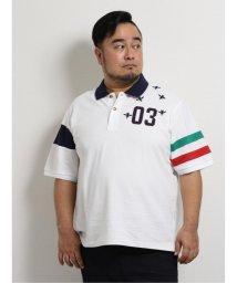 GRAND-BACK/【大きいサイズ】ジーステージ/G-stage 左胸ワッペン刺繍半袖ポロシャツ/503246575