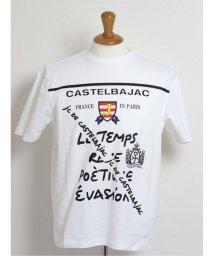 GRAND-BACK/【大きいサイズ】カステルバジャック/CASTELBAJAC 梨地プリントクルーネック半袖Tシャツ/503246584