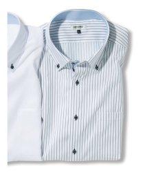 GRAND-BACK/【大きいサイズ】レノマオム/renoma HOMME アイスカプセル形態安定ボタンダウン半袖ビジネスドレスシャツ/ワイシャツ/503246599