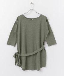 URBAN RESEARCH DOORS/siiwa ヘンプコットンベルト付きTシャツ/503247431