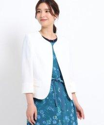 SunaUna/【洗える】ブッチャーノーカラージャケット/503247500