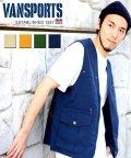 MARUKAWA/【VANSPORTS】 ヴァンスポーツ ナイロン Vネック ベスト アウトドア キャンプ フィッシング 釣り/503200675
