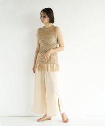FIKA./【セットアップ対応商品】FIKA. Key lace long Knit vest/503201744