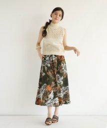 FIKA./FIKA. Vintage flower flare Skirt/503201758