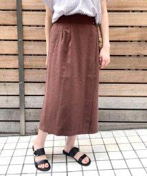 fredy emue/リネン混ツイル ミディ丈スカート/503202595