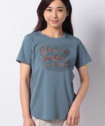 Leilian PLUS HOUSE/ラインストーンロゴTシャツ/503216314