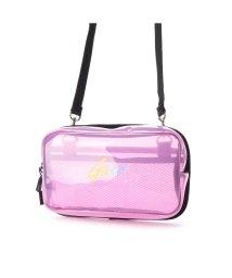 GUESS/ゲス GUESS LOGO CLEAR SHOULDER BAG (PINK)/503221295
